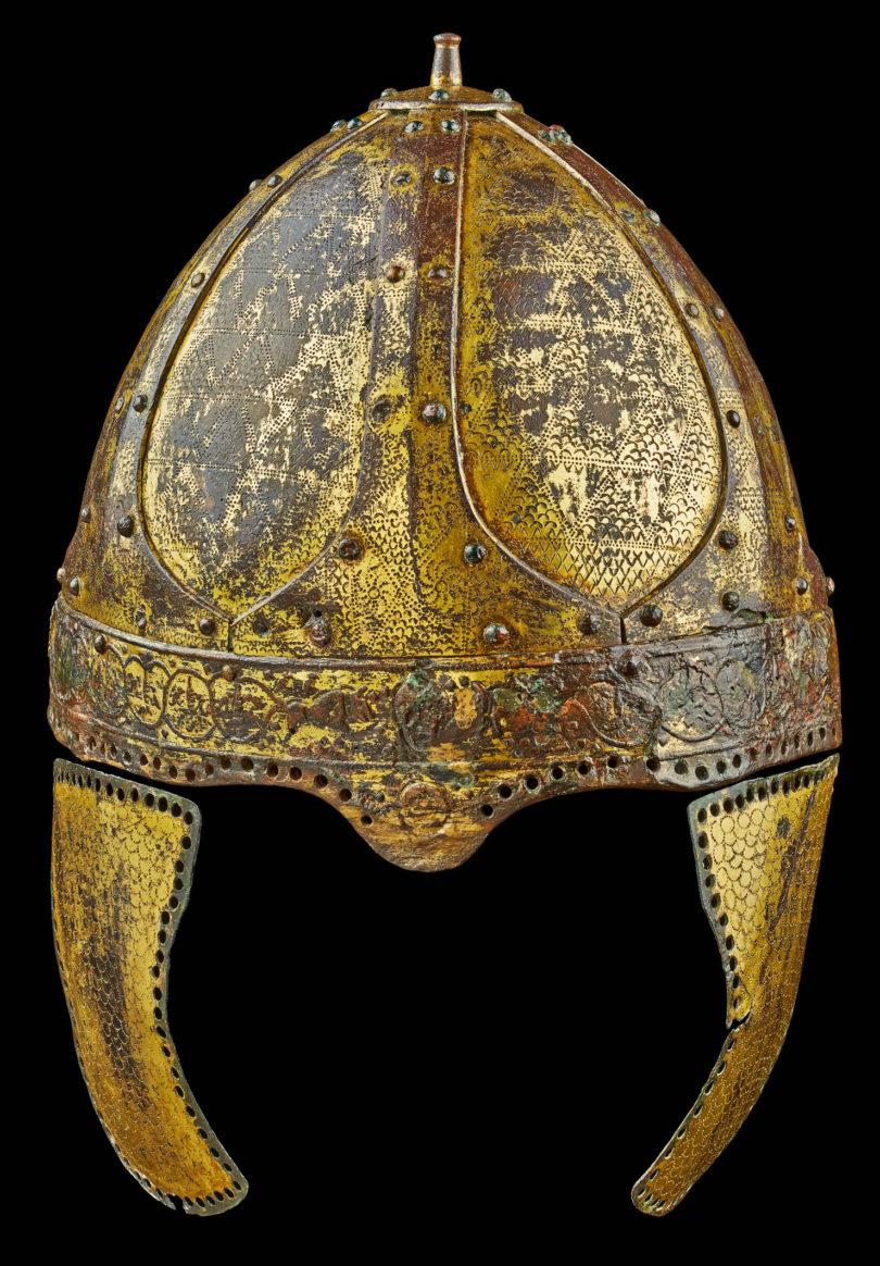 Helm des Herrn von Morken, Metall, 6. Jh. n. Chr.Eisen, Kupferlegierung, Gold © LVR-Landesmuseum Bonn, Foto: Jürgen Vogel