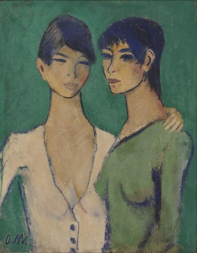 Otto Mueller, Zwei Schwestern, 1919, Galerie Ludorff, Highlights, Foto: Achim Kukulies, Düsseldorf