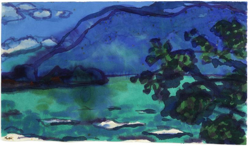 "Emil Nolde, ""Lago Maggiore"", 1948, Aquarell, Galerie Utermann, Highlights, Foto: Galerie Utermann"