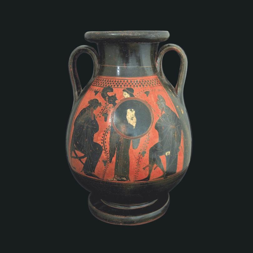 Attische Pelike, angeboten von Christoph Bacher auf der Art&Antique, Foto: Christoph Becher Archäologie Ancient Art