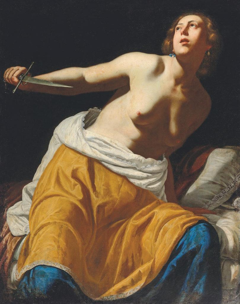 "Artemisia Gentileschi,""Lucretia"", Öl auf auf Leinwand, versteigert im Dorotheum, Foto: Dorotheum"