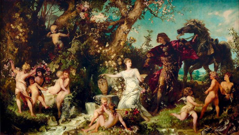 Hans Makart, Der Frühling, 1883/84, Öl auf Leinwand, 370 x 630 cm, Foto: Salzburg Museum