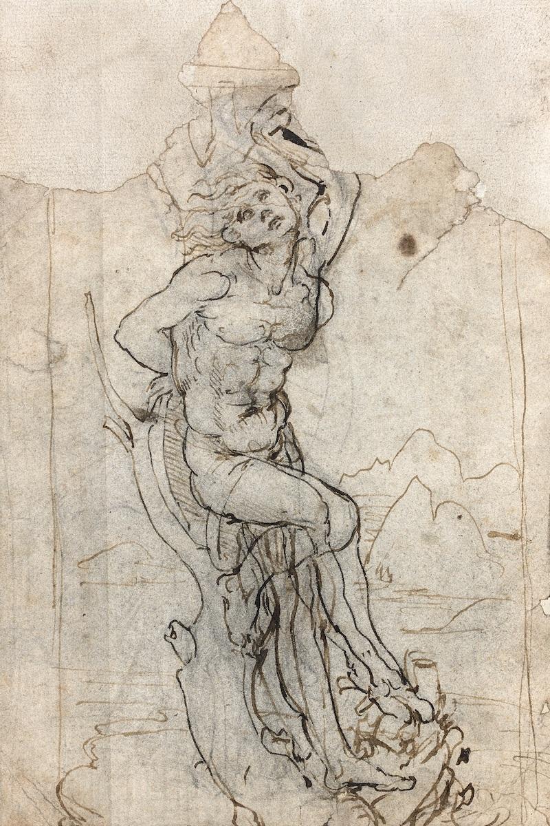 Leonardo Da Vinci, Zeichnung, um 1480, recto, Foto: Tajan, Paris