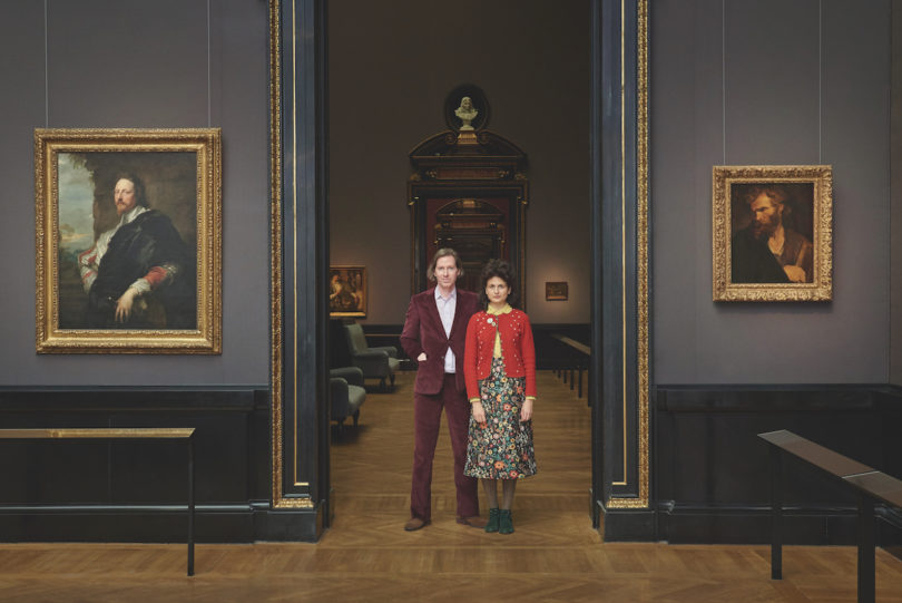 Wes Anderson und Juman Malouf in der Gemäldegalerie des Kunsthistorisches Museum Wien © KHM-Museumsverband