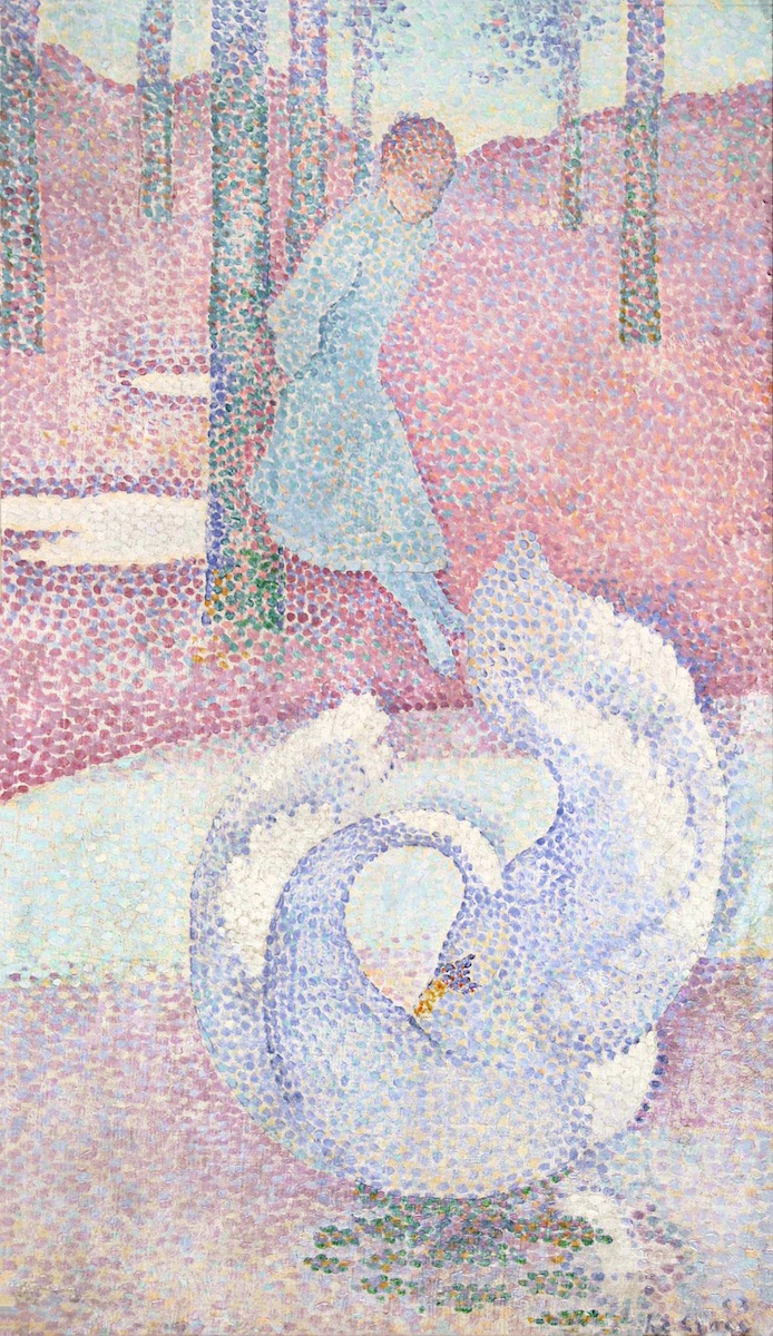 Henri-Edmond Cross, Der Schwan, 1893, Privatbesitz, Foto: Galerie de la Présidence, Paris