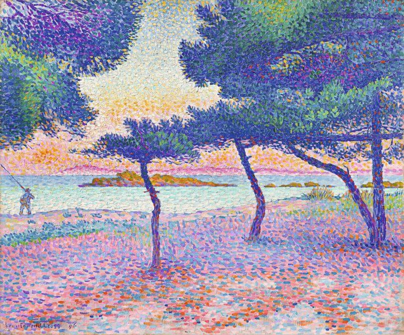 Henri-Edmond Cross, Der Strand von Saint-Clair, 1896, Privatbesitz