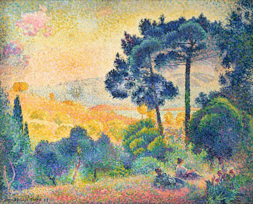 Henri-Edmond Cross, Landschaft der Provence, 1898, Wallraf-Richartz-Museum & Foundation Corboud, Köln, Foto: Rheinisches Bildarchiv