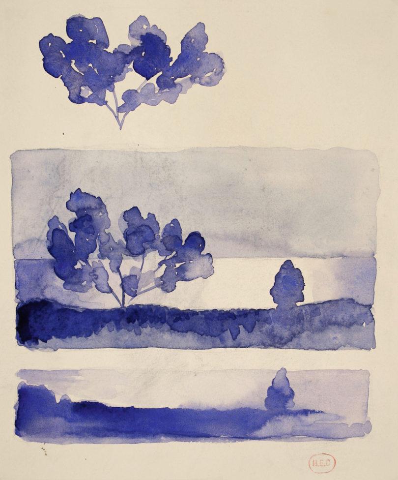 Henri-Edmond Cross, Zwei Landschaften bei Nacht, o.D. Privatbesitz, Galerie de la Présidence Private collection, Foto: Galerie de la Présidence Private collection