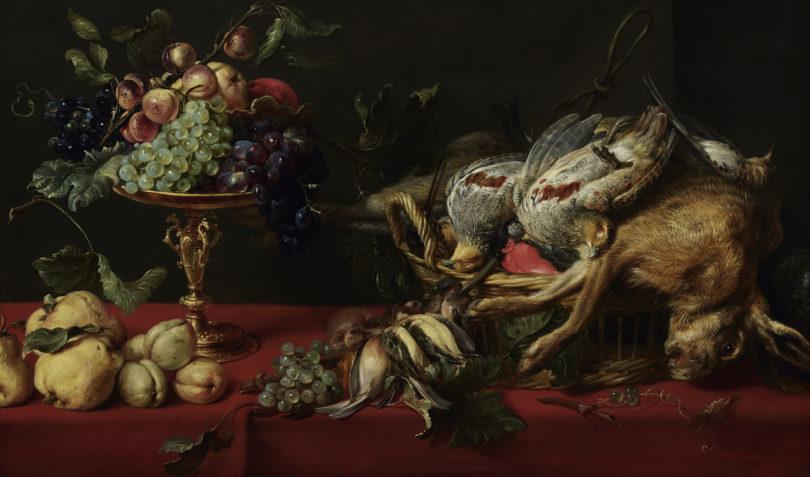 """Frans Snijders, """"Stillleben mit Tazza, Früchten, Wild und Vögeln"""", Öl auf Holz, um 1625, Foto: Fachbereich Presse und Marketing, Suermondt-Ludwig-Museum, Aachen"""