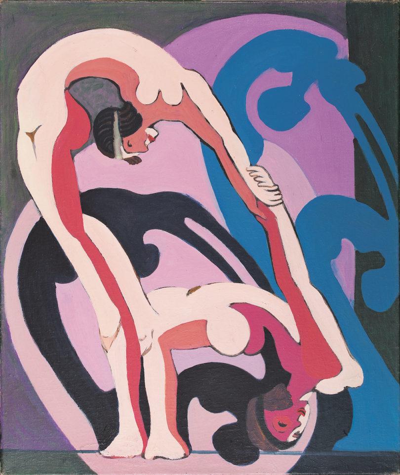 "Ernst Ludwig Kirchner (1880–1938), ""Akrobatenpaar. Zwei Akrobatinnen"", Ölauf Leinwand, 1932–1933, Kirchner Museum Davos, Abb: Kirchner Museum Davos, Foto: Jakob Jägli"