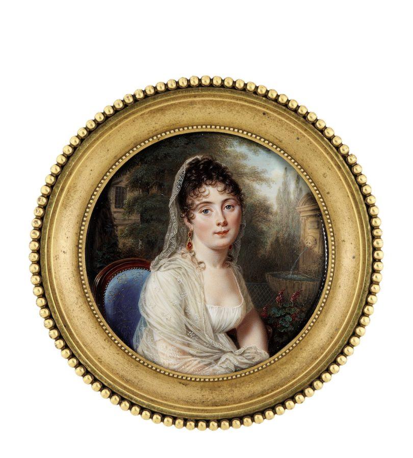 "Pierre-Louis Bouvier, ""Louise von Wattenwyl"", um 1804, Höhe 7,3 cm, Sotheby's, London, Foto: Sotheby's, London"