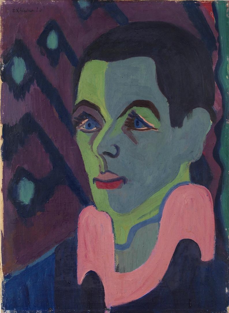 Ernst Ludwig Kirchner, Selbstbildnis, 1925–1926, Öl auf Leinwand, Sammlung E.W. Kornfeld, Bern/Davos