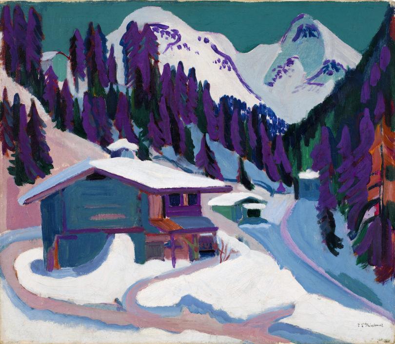 Ernst Ludwig Kirchner, Stafelalp im Schnee, 1917, Öl auf Leinwand, Sammlung E.W. Kornfeld, Bern/Davos