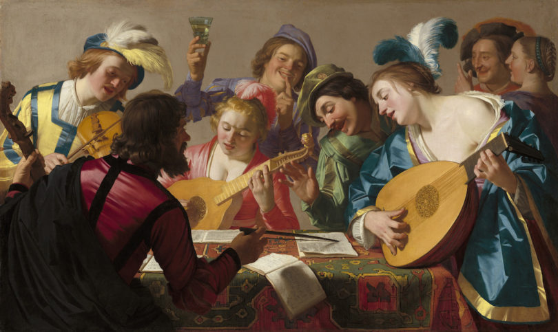 Gerard van Honthorst, Das Konzert, 1623, Öl auf Leinwand, National Gallery of Art, Washington, Patrons' Permanent Fund and Florian Carr Fund, Foto: © National Gallery of Art, Washington, Patrons' Permanent Fund and Florian Carr Fund