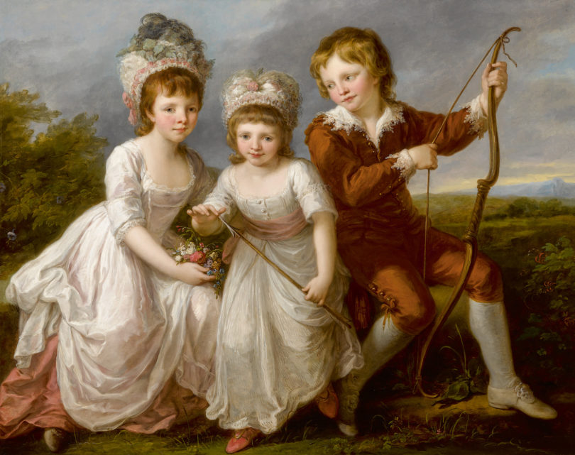 "Angelika Kauffmann, ""Porträt von Lady Georgiana Spencer, Henrietta Spencer und George Viscount Althorp"", Öl / Lwd., Sotheby's New York, Foto: Künker, Osnabrück; Sotheby's, New York"