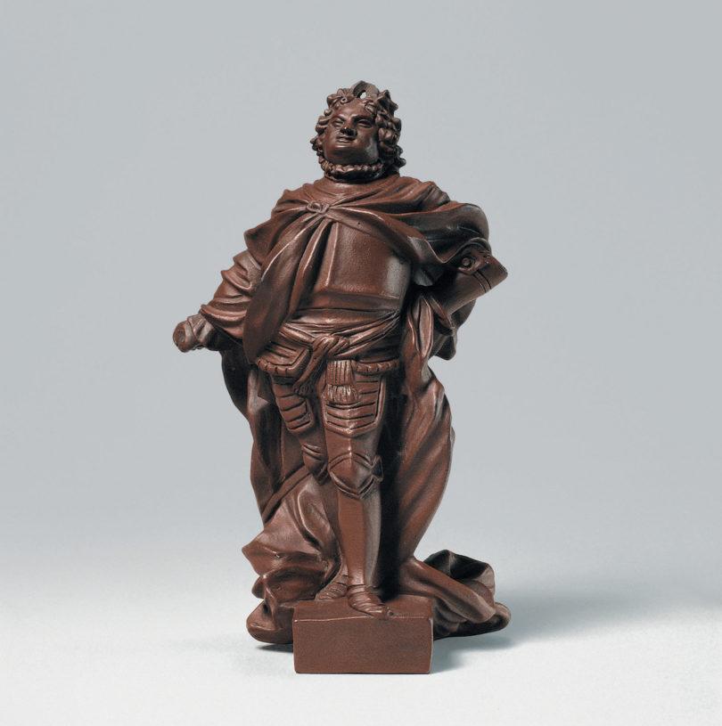 Johann Joachim Kretzschmar zugeschrieben, August II., König von Polen, Meißen, 1713 (Modell), Böttgersteinzeug, Foto: Walter Haberland, Bayerisches Nationalmuseum München.