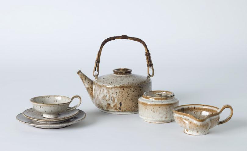 Marguerite Friedlaender, Teeservice, Steinzeug, Manganglasur, 1927, Die Neue Sammlung, München, Foto: Christoph Sandig