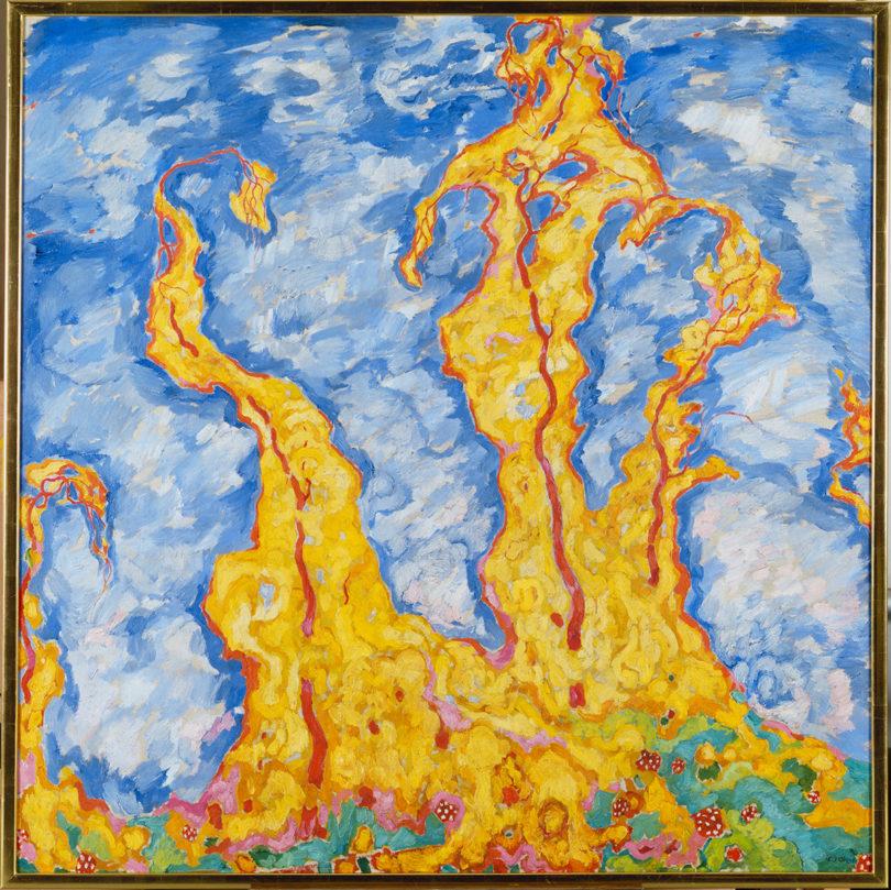 Walter Ophey, Herbstphantasie (Herbstrausch- Bacchanal), 1912, Öl auf Leinwand, 160 x 160 cm, Museum Kunstpalast, Düsseldorf © Museum Kunstpalast – ARTOTHEK