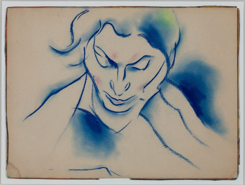 Walter OpheyFrauenbildnis, o.J.Farbige Kreide, 27,1 x 36,5 cmMuseum Kunstpalast, Düsseldorf© Museum Kunstpalast – Horst Kolberg – ARTOTHEK