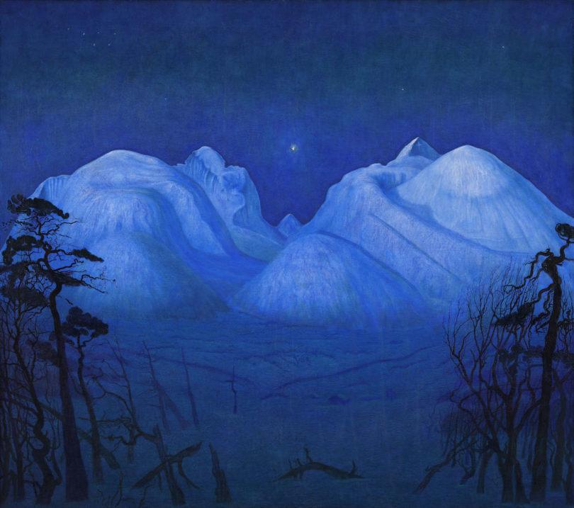 "Harald Sohlberg, ""Winternacht in Rondane"", 1914, Nasjonalmuseet Oslo, Foto: Borre Hostland und Jacques Lathion"