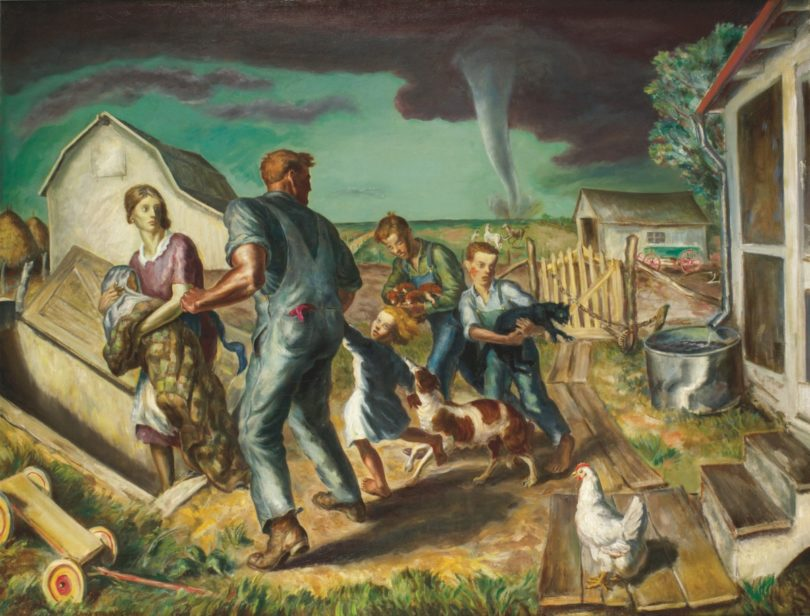 "John Steuart Curry, ""Tornado over Kansas"", 1929, Foto: Collection of the Muskegon Museum of Art, Hackley Picture Fund Purchase"