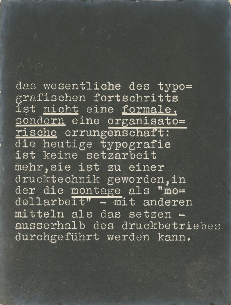 """László Moholy Nagy, """"Wohin geht die typographische Entwicklung?"""", Ausstellungstafeln 2 + 16, Foto: Staatliche Museen zu Berlin, Kunstbibliothek"""