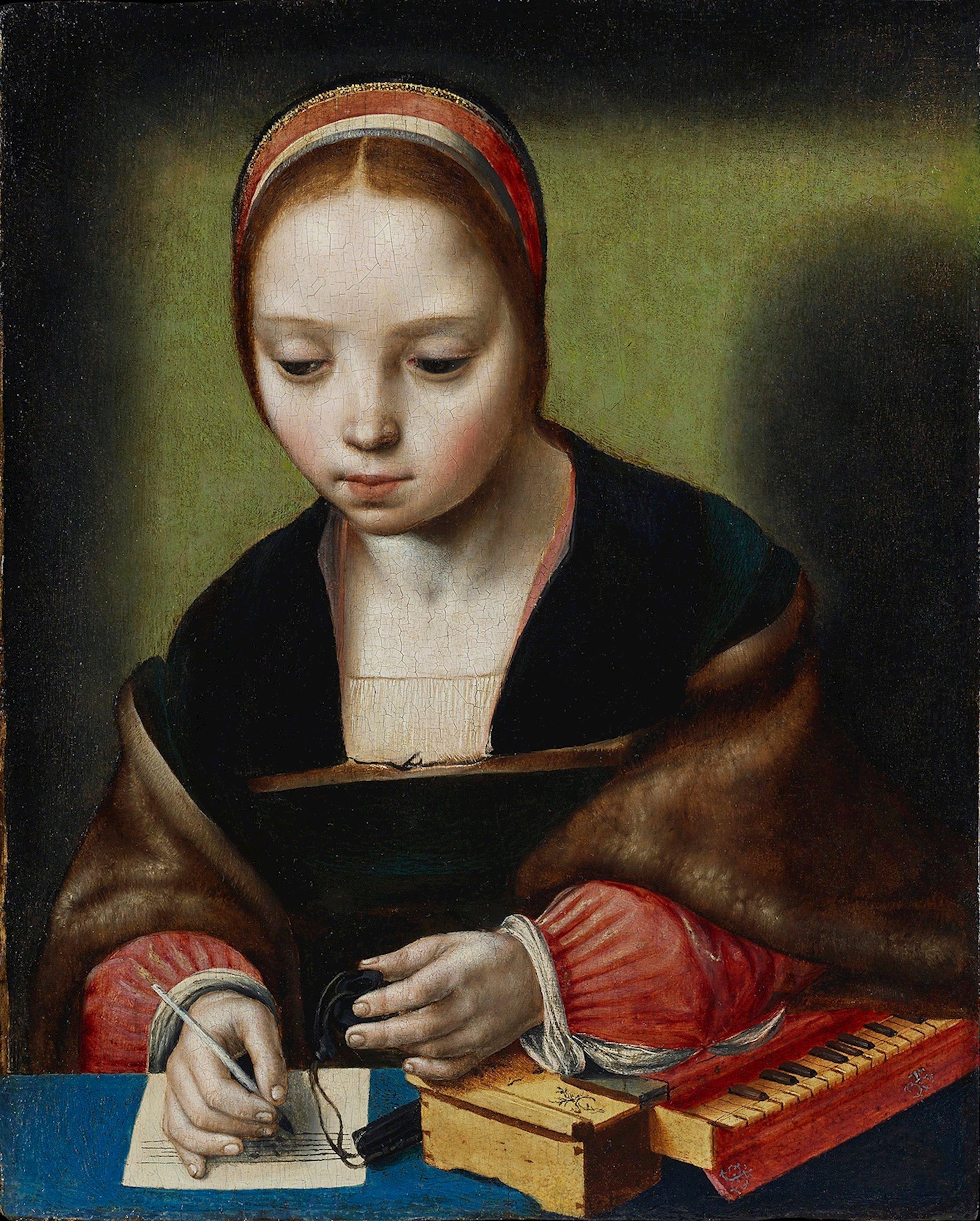 """Post von einer Unbekannten Den Namen des Malers, der zwischen 1520 und 1530 die """"Junge Dame am Clavichord, Cecilia"""