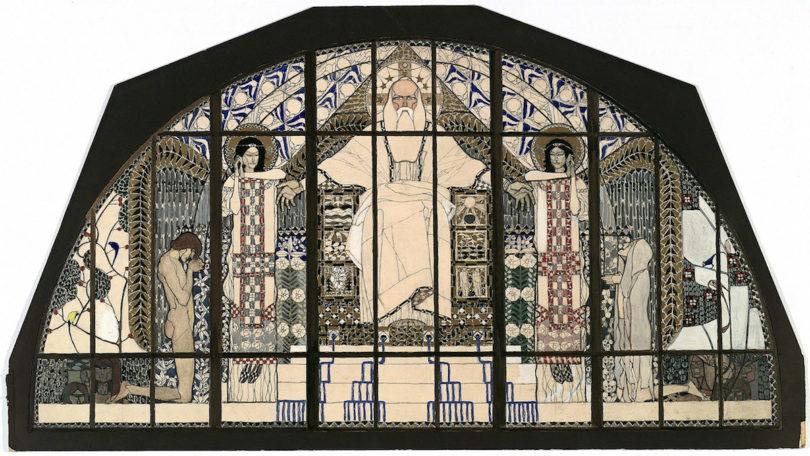 Koloman Moser, Entwurf für das Südfenster der Kirche St. Leopold am Steinhof, 1905/06, Foto: MAK/Georg Mayer