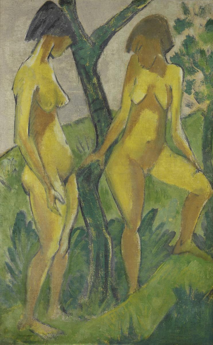 Otto Mueller, um 1925, Leimfarbe auf Rupfen, Staatliche Museen zu Berlin, Nationalgalerie, Foto: bpk/Staatliche Museen zu Berlin, Nationalgalerie/Jörg P. Anders