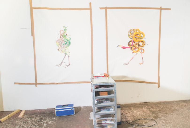 Die Fabelwesen von Maria Thurn und Taxis sind noch in Arbeit. Neue Werke sind ab 29. März bei Siegfried Contemporary in London zu sehen (Foto: Alexander Coggin)