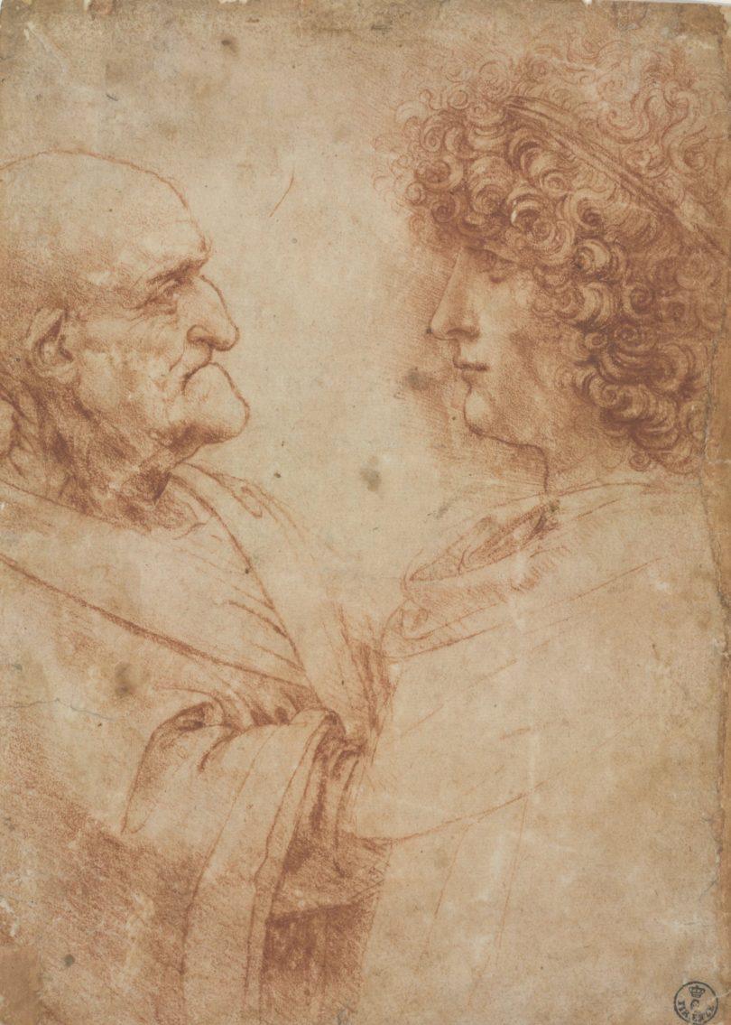 Die Macht der Jugend über das Alter: Der Schönling ist wahrscheinlich Salat, langjähriger Mitarbeiter und Geliebter Leonardos, um 1500. Bild: Uffizien, Florenz
