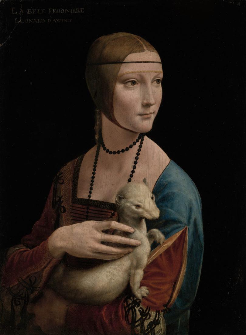 "Leonardo da Vinci, ""Dame mit dem Hermelin"", Krakauer Nationalmuseum, Bild: Muzeum Narodwe, Czartoryski Collection, Krakau"