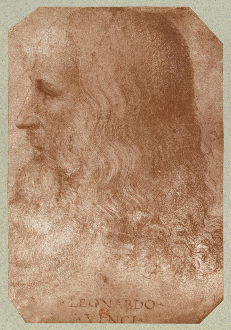 Francesco Melli, Schüler und Vertrauter Leonardos, zeichnete das einzige Porträt, das heute als glaubhaft gilt. Bild: Ist. RMN-GP/BnF/bpk