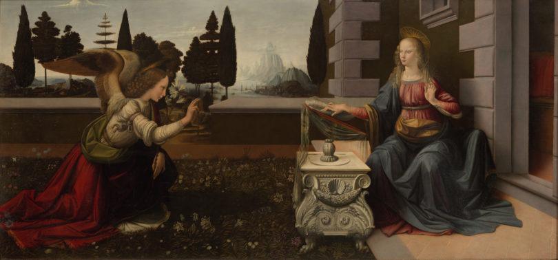 "Leonardo da Vinci, ""Verkündigung an Maria"", um 1473/75, Uffizien Florenz, Bild: Uffizien Florenz"