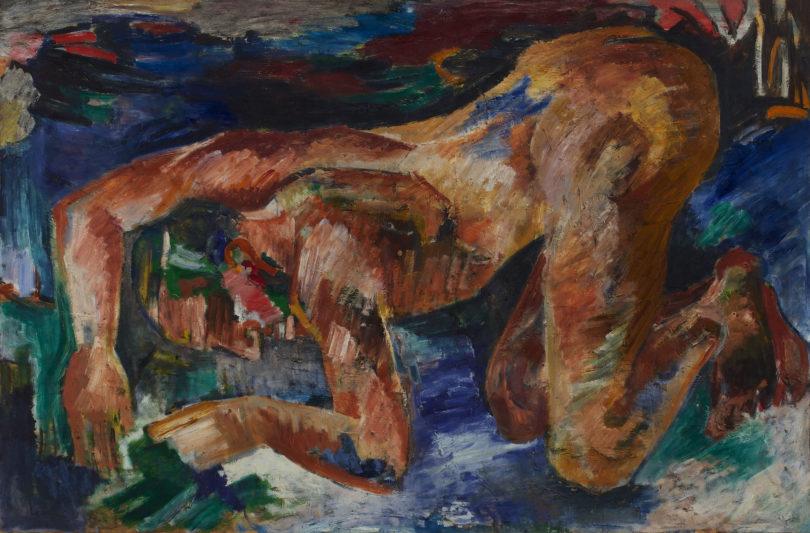 """Julo Levin, """"Hiob"""", 1933/34, Öl auf Leinwand, Stadtmuseum Landeshauptstadt Düsseldorf, Foto: Horst Kolberg"""