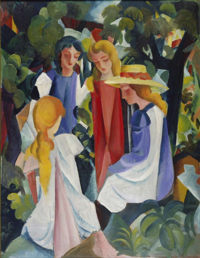 "August Macke, ""Vier Mädchen"", 1913, Öl auf Leinwand, Kunstpalast, Düsseldorf, Foto: Kunstpalast, Horst Kolberg, ARTOTHEK"