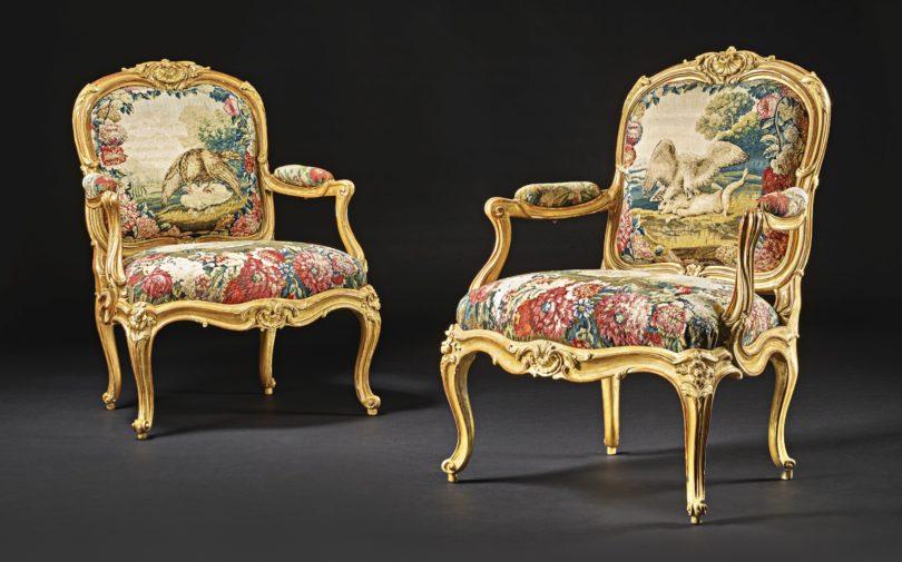 "Paar Louis-XV-Armlehnsessel ""à la Reine"", Nicolas Heurtaut, Paris, Mitte 18. Jh., 96,5x71cm, Sotheby's, New York, 20. Oktober 2018 (Zuschlag 100000$), Bild: Sotheby's, New York"