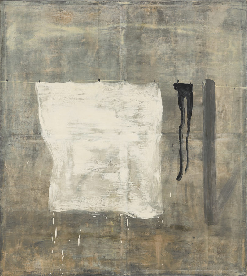 """Norbert Schwontkowski, """"Frische Wäsche"""", 1993, Bild: Tobias Hübel, Kunstverein Bremerhaven"""