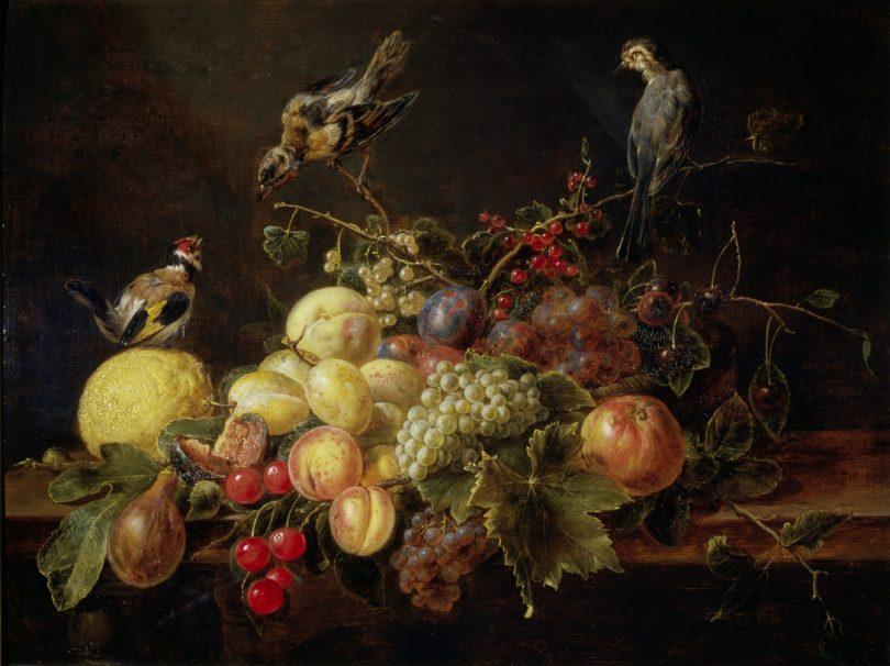 Adriaen van Utrecht, Stillleben mit Früchten und Vögeln, 1649, Öl auf Leinwand, Wallraf-Richartz-Museum & Fondation Corboud, Köln, Foto: Wallraf-Richartz-Museum & Fondation Corboud, Köln