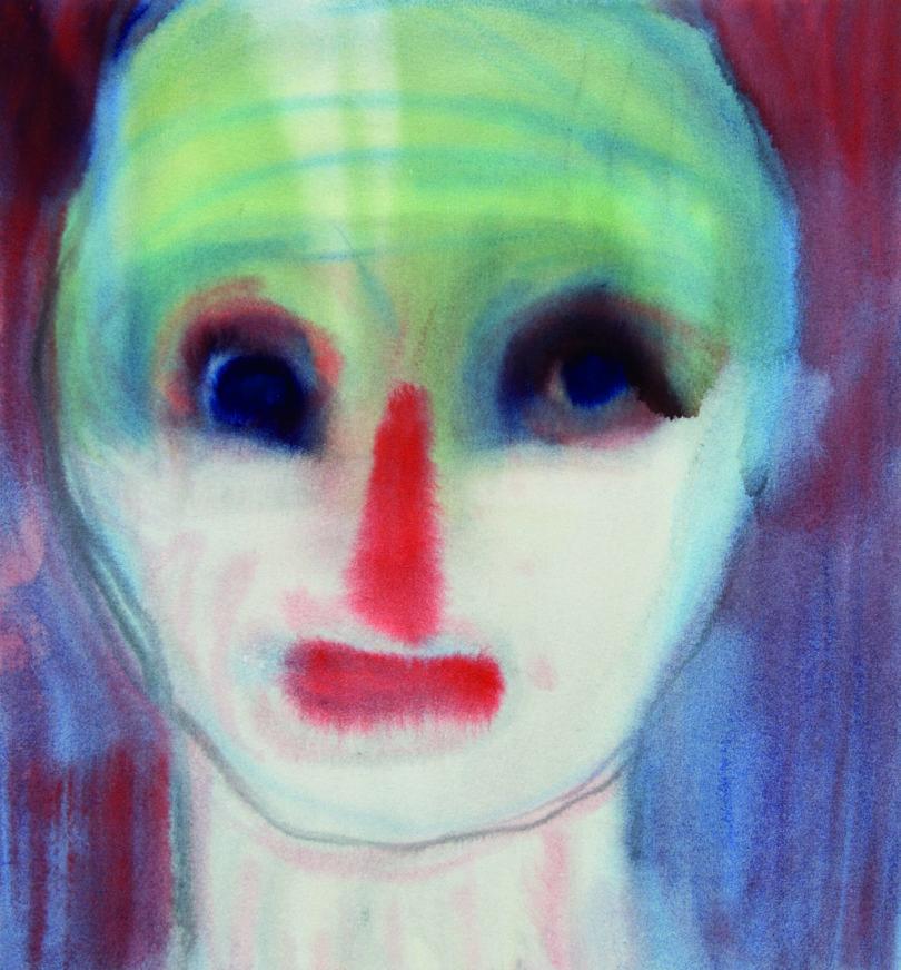 "Miriam Cahn, ""o.t., 18.04.2017"", 2017, Aquarell auf Papier, 27,5 x 25,5 cm, Fotograf: Stefan Jeske, Copyright: Miriam Cahn, Private Collection"