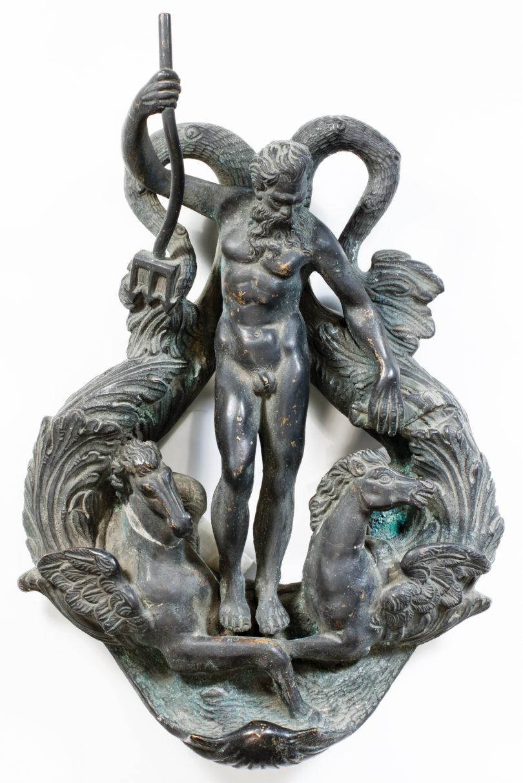 Alessandro Vittoria, Türklopfer mit Neptun, Bayerisches Nationalmuseum, Bild: Bayerisches Nationalmuseum, Bild: 2019 Bayerisches Nationalmuseum, Inventarnummer: 65/132