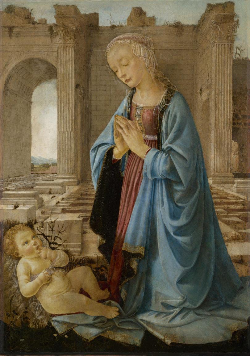 """Domenico Ghirlandaio (zugeschrieben), """"Ruskin Madonna"""", um 1470, National Galleries of Scotland, Edinburgh, Inv. NG 2338, Foto: National Galleries of Scotland, Edinburgh, Inv. NG 2338"""