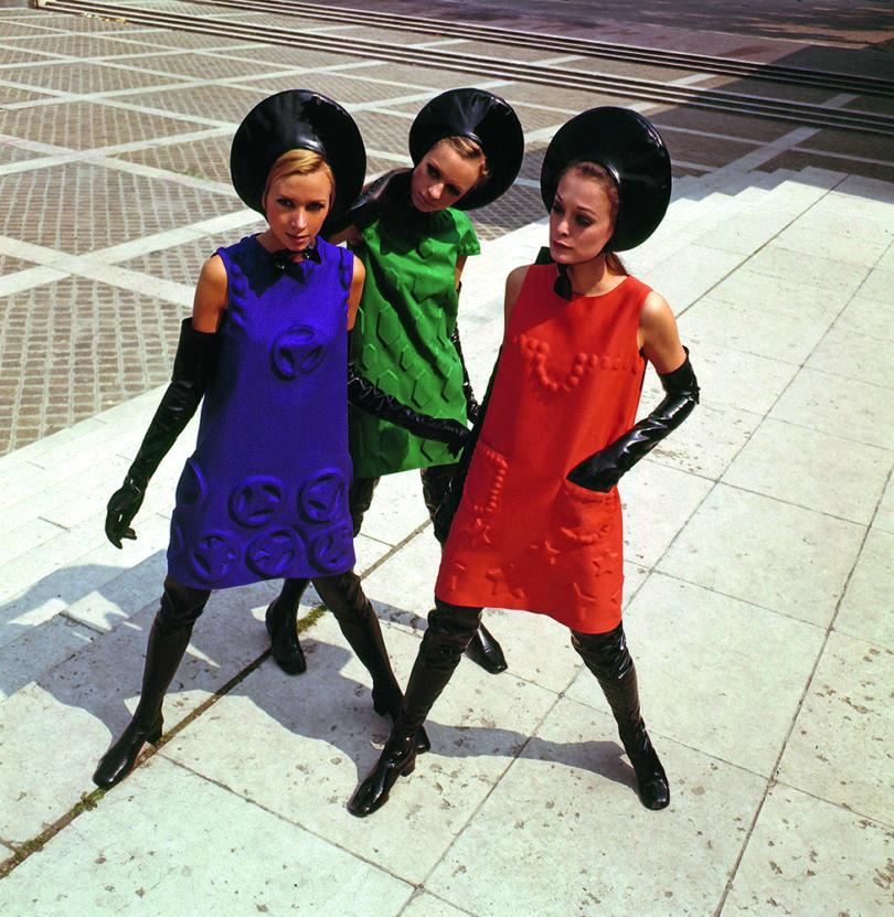 »Cardine Kleider«, 1968 – Düsseldorf, Kunstpalast:»Pierre Cardin. Fashion Futurist«, 19. September 2019 bis 5. Januar 2020. Foto: Museum