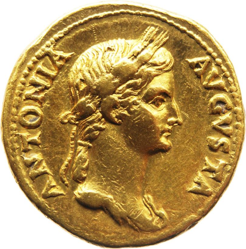 Rom, Antonia die Jüngere, Aureus 41-45 n. Chr., Gold, Foto: © SKD
