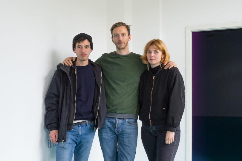Maximilian Stühlen, Rasmus Roos Lindquist und Josefine Schulz geben Gegenwartskünstlern bei Schimmel Projects eine Plattform, Foto: Paul Barsch