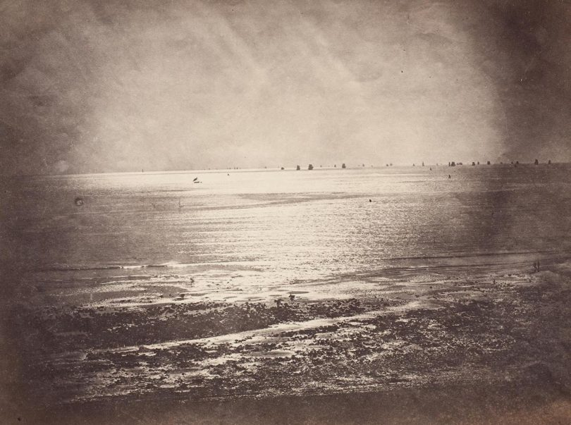 """Gustave Le Gray, """"Vue de mer (Meerblick)"""", 1856, Münchner Stadtmuseum, Sammlung Fotografie, Foto: Städtische Galerie im Lenbachhaus und Kunstbau München"""