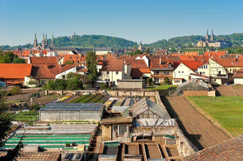 Blick von der Gärtnerstadt zur Bergstadt, Foto: Andreas Hub / laif, © FrankenTourismus/BAMBERG TKS/A. Hub