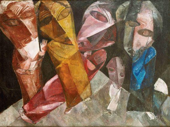 Lasar Segall, Die ewigen Wanderer, 1919, Öl auf Leinwand, Museu Lasar Segall, São Paulo, und Constantin von Mitschke-Collande Foto: Museu Lasar Segall