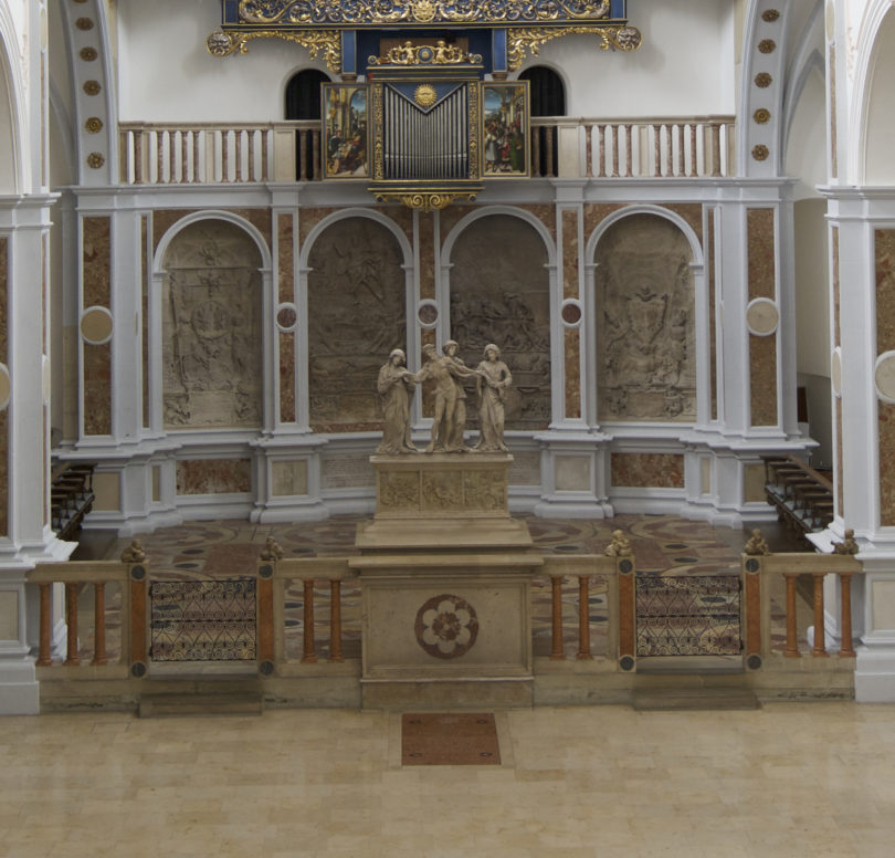 Nahsicht der Balustrade, Fuggerkapelle in Augsburg, Foto: Fuggersche Stiftungen