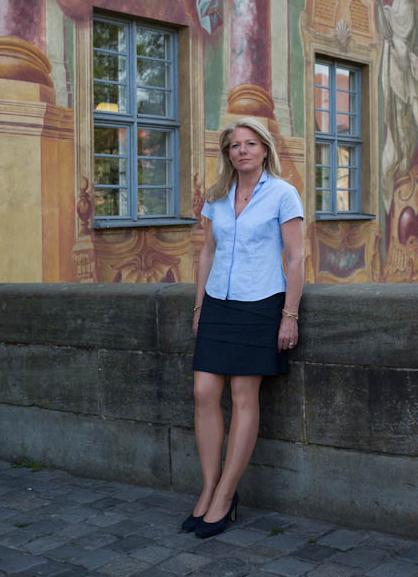 Organisatorin und treibende Kraft der Kunst- und Antiquitätenwochen: Fiona Freifrau Löffelholz von Colberg, Bamberg 2014, Foto: Monika Höfler